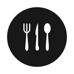Icon of eating utensils