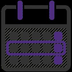 Icon of a calendar