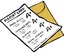 Icon of a paper report card
