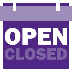 Icon of open/closed sign