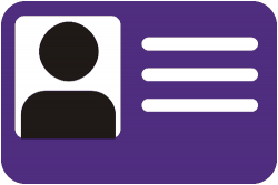 Icon of identification badge