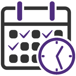 Icon of calendar and clock