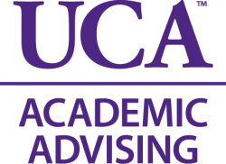 Icon of UCA Academic Advising text