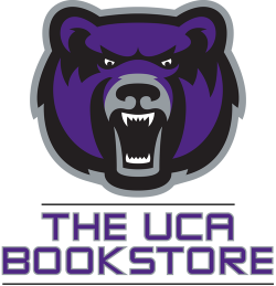 UCA Bear head and The UCA Bookstore text